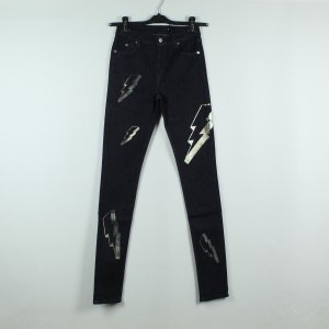 American Retro Skinny Jeans dark blue cotton