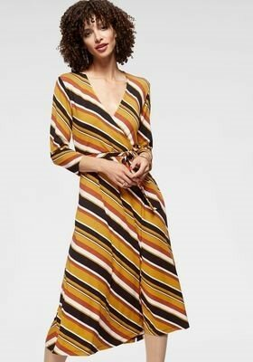 Aniston Selected Robe portefeuille multicolore laine