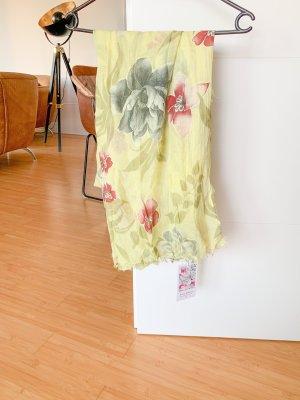 Anna Justper Zijden sjaal geel