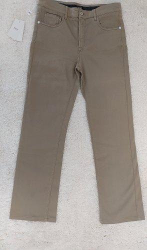 Armani Collezioni Pantalon cinq poches doré coton
