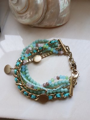 Pilgrim Pearl Bracelet gold-colored-turquoise