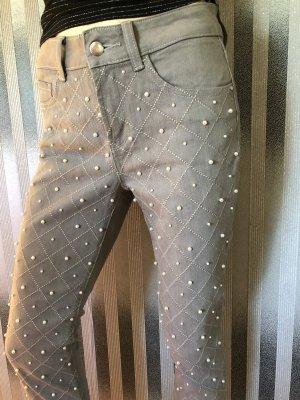 Ashley Brooke Stretch Jeans light grey-white