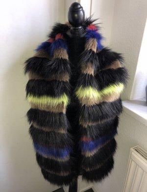 Asos Kurtka ze sztucznym futrem czarny