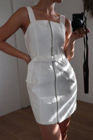 Miss Selfridge Robe en jean blanc-blanc cassé tissu mixte