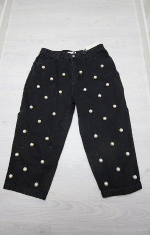 Asos White Jeans a 3/4 nero-bianco