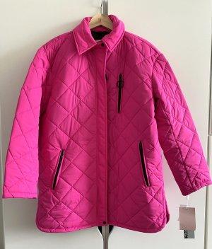 NEU Avec les Filles Neon Pink Diamant Zip Hemd Steppjacke Mantel Übergangs Herbst Jacke Größe L