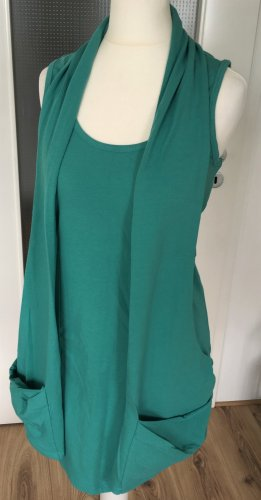 NEU B.C. Best Connections Longtop S 36 XS 34 Tunika Sommer Kleid Grün Casual Look