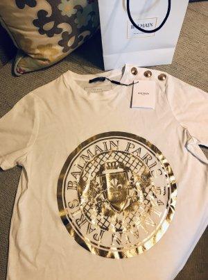 Neu! BALMAIN Shirt weiß/gold Gr.M (40)