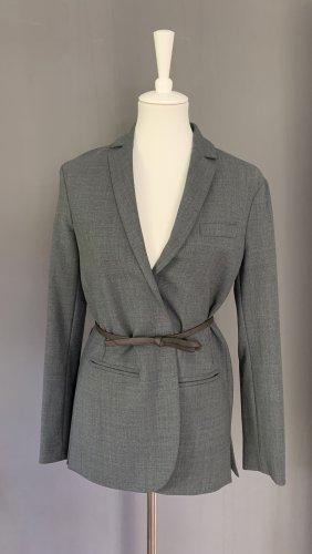 TwinSet Simona Barbieri Blazer en jersey gris-brun noir