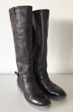 Belmondo Riding Boots taupe-black brown leather