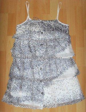 *NEU* Benetton Sommer Träger Kleid Volants Rüschen Empire süß blogger XS 34