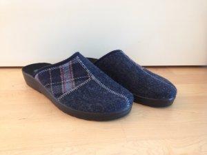 Pantuflas azul oscuro-azul