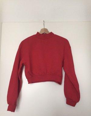 NEU! Bershka Cropped Pullover in rot