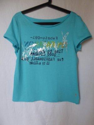 NEU: Besonderes, blaues T-Shirt mit Motiv von QS (S.Oliver)