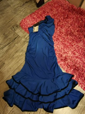 Best emilie One Shoulder Dress blue-black