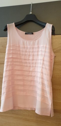 Betty Barclay Top met franjes stoffig roze