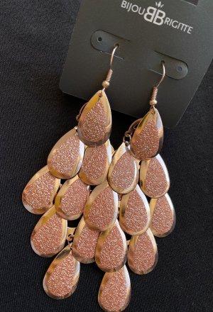 Bijou Brigitte Wiszące kolczyki w kolorze różowego złota