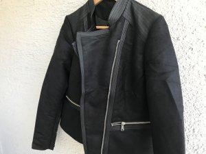 NEU !!! Biker Jacke Bikerjacke schwarz hochwertig mega schön Gr. 36 S Business-Look Casual-Look Elegant klassischer Stil
