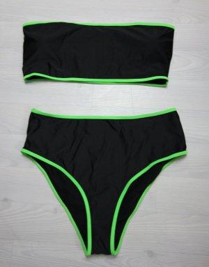 Bikini noir-vert fluo