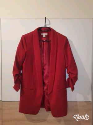 H&M Blazer long rouge foncé-rouge carmin