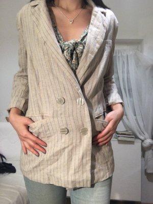 Amisu Knitted Blazer cream-cornflower blue