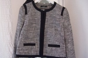 Neu Blazer Hallhuber Tweed schwarz weiß, Größe 36