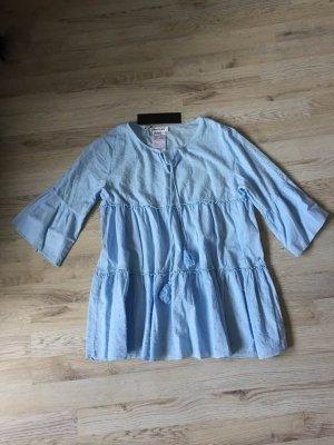 Replay Blusa de túnica azul celeste Algodón