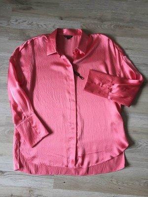 Massimo Dutti Silk Blouse raspberry-red-bright red silk