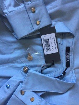 Guess Long Sleeve Blouse azure cotton