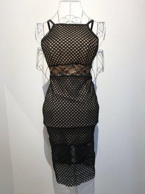 Asos Sukienka z gorsetem czarny-nude