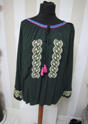 Bodyflirt Camisa tipo túnica verde oscuro