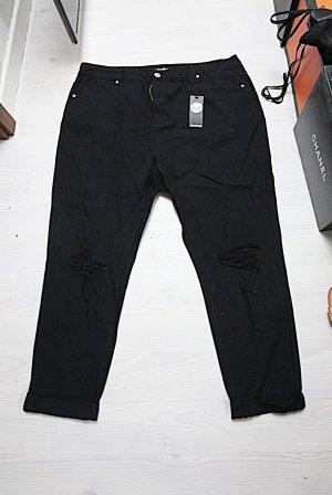 Boohoo High Waist Jeans black