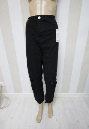 Boohoo Jeans a vita alta nero