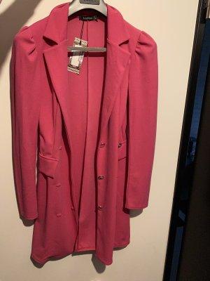 Neu Boohoo Tall Blazerkleid Pink Damen 38 M Blazer Kleid Rosa Rose Gold Silber