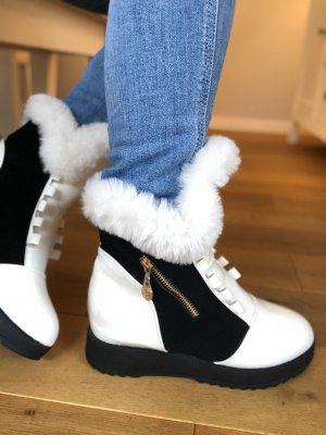 Botas de piel blanco piel artificial