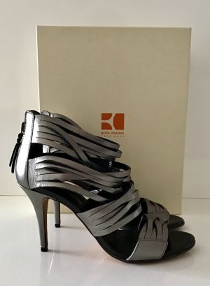 NEU BOSS ORANGE PUMPS GR. 41 SILBER /GRAU METALLIC