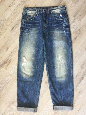 G-Star Boyfriend Jeans dark blue-blue cotton