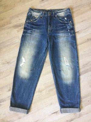 G-Star Jeans boyfriend bleu foncé-bleu coton