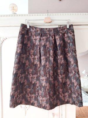 Esprit Spódnica midi czarny-brązowy