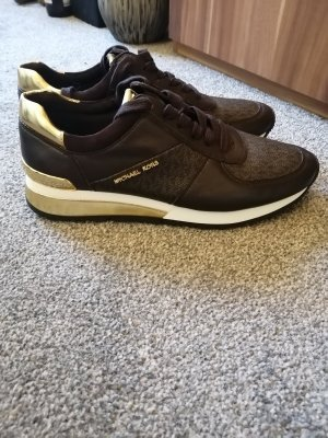 Michael Kors Lace-Up Sneaker gold-colored-brown leather