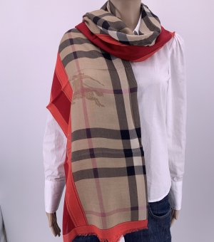 Burberry Cashmere Scarf light brown-dark red