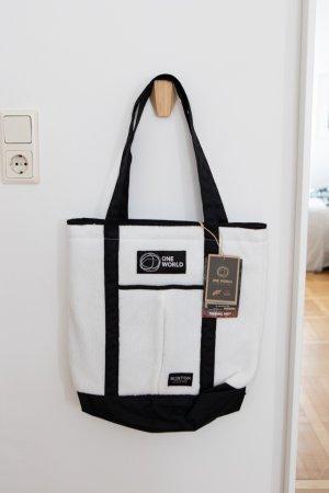 Burton Handbag white-black mixture fibre