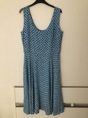 NEU Calvin Klein Kleid blau schwarz L geblümt