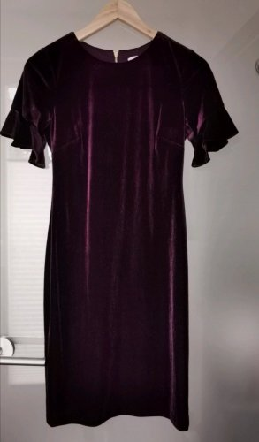 Neu Calvin Klein Kleid Samt bordeaux
