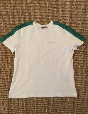 Calvin Klein T-shirt wit-groen