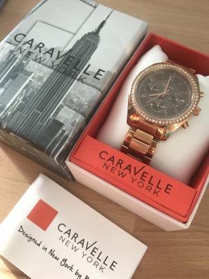 Caravelle Reloj con pulsera metálica color rosa dorado