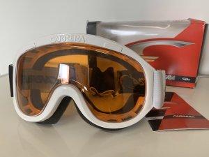 Neu Carrera Skibrille Skibrille weiß orange