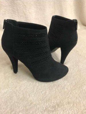 NEU Catwalk Stiefel mit Steinchen [Schwarz, Gr. EU 37]