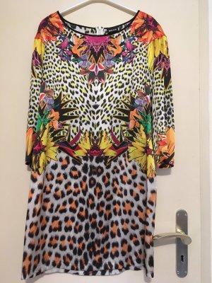 Cavalli Mini Dress multicolored silk