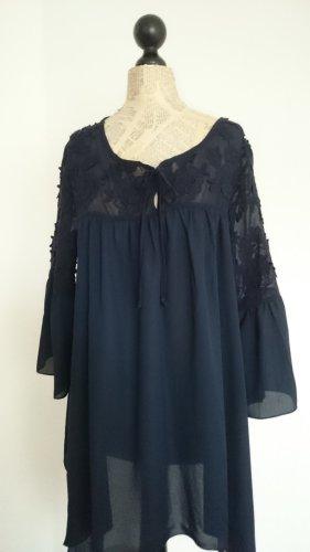 Alba Moda Tunique-blouse bleu foncé